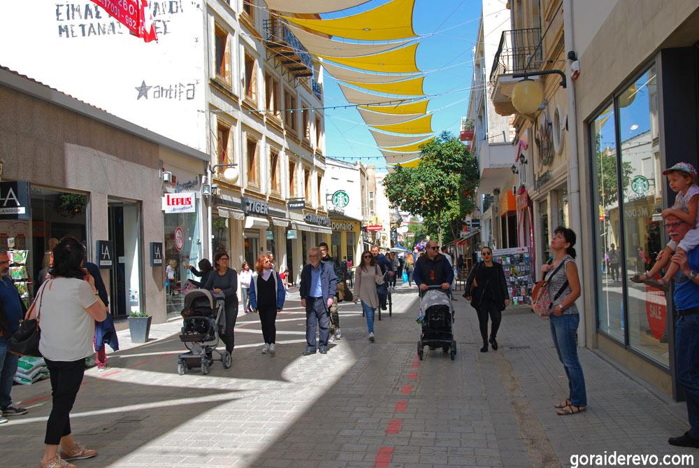 Никосия центр пешеходы
