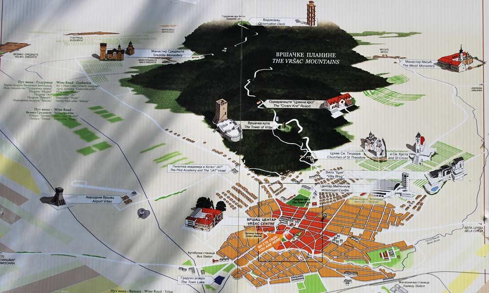 карта Вршац Сербия