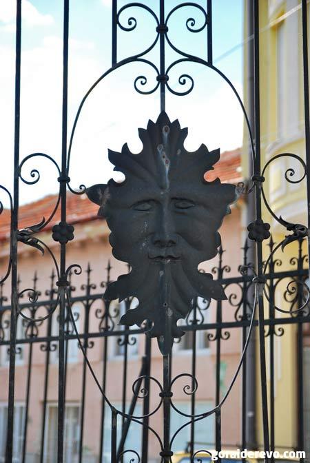 лицо на заборе