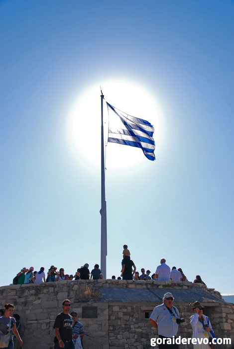 туристы в Акрополе
