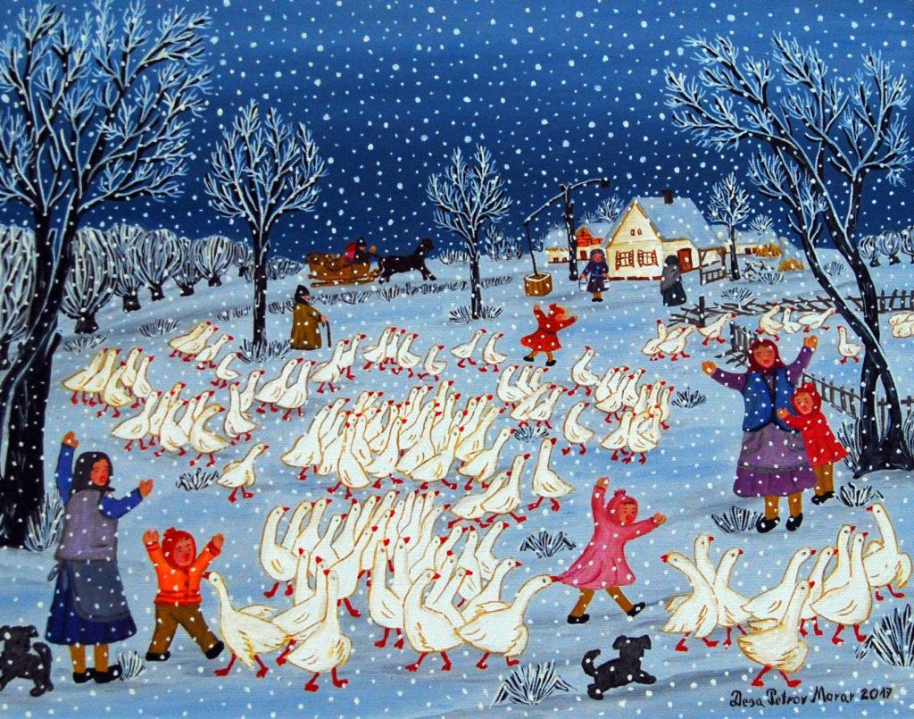 зима на селе