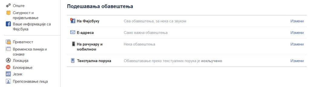 фейсбук на сербском