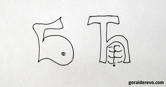 сербские и русские буквы