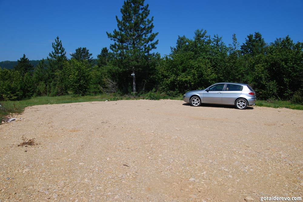 парковка возле смотровой площадки