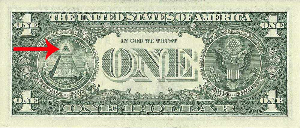 масонский символ на долларе
