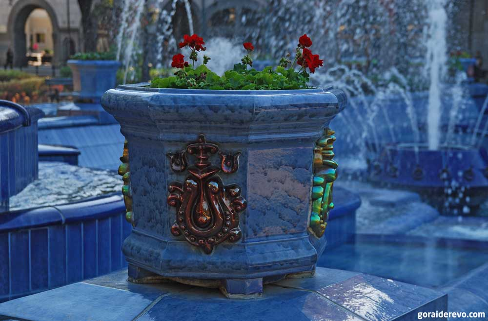 голубой фонтан Суботица